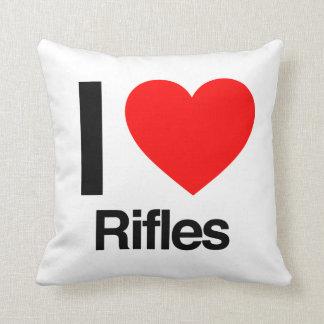 amo los rifles cojines