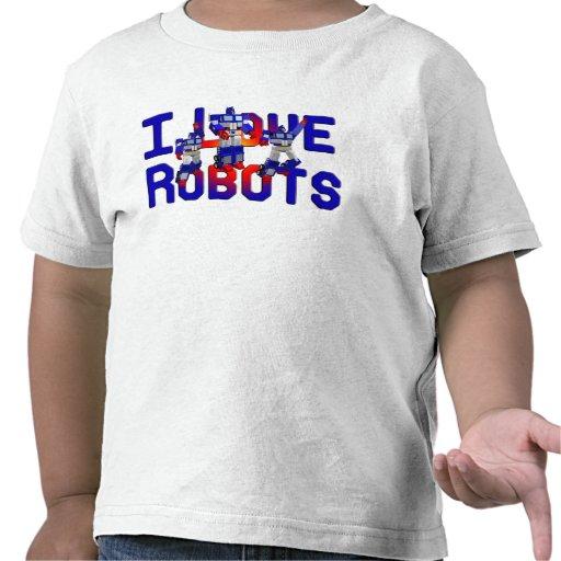 Amo los robots camiseta
