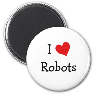 Amo los robots imán redondo 5 cm