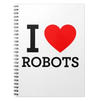 Amo los robots libros de apuntes con espiral