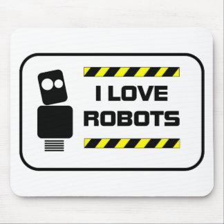 Amo los robots mousepads