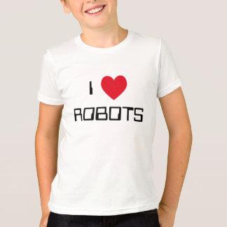 Amo los robots playeras