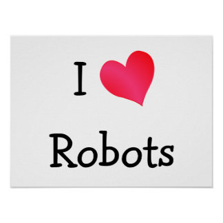 Amo los robots póster