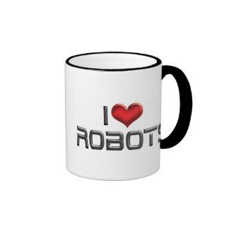 Amo los robots taza de dos colores