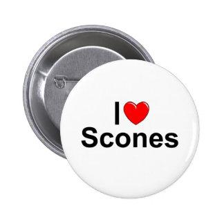 Amo los Scones (del corazón) Pin Redondo De 2 Pulgadas