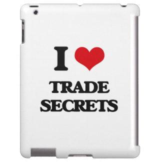 Amo los secretos comerciales funda para iPad