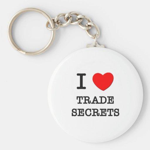 Amo los secretos comerciales llavero