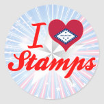 Amo los sellos, Arkansas Pegatinas Redondas