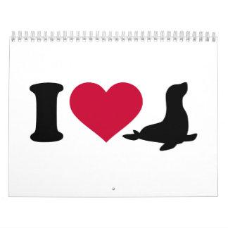 Amo los sellos calendario