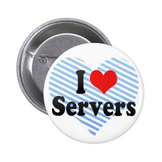 Amo los servidores pin redondo de 2 pulgadas