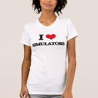 Amo los simuladores camisetas