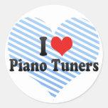 Amo los sintonizadores de piano etiqueta redonda