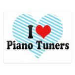 Amo los sintonizadores de piano tarjetas postales