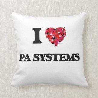 Amo los sistemas PA Almohadas