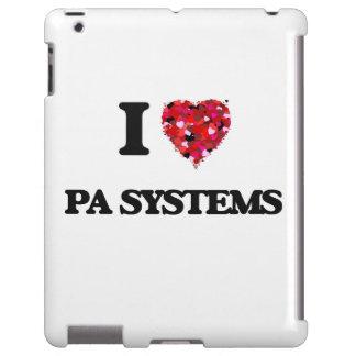 Amo los sistemas PA Funda Para iPad