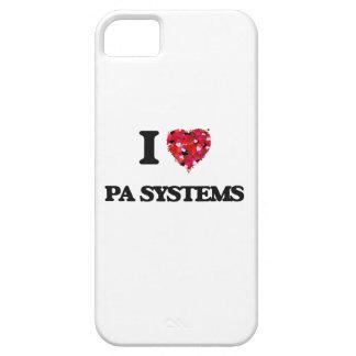 Amo los sistemas PA iPhone 5 Carcasa
