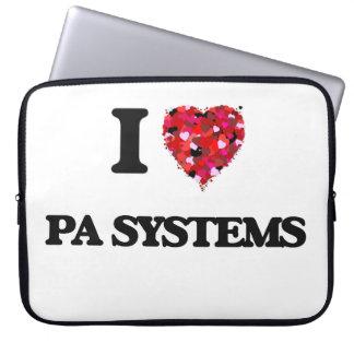 Amo los sistemas PA Funda Ordendadores