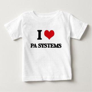 Amo los sistemas PA Playera