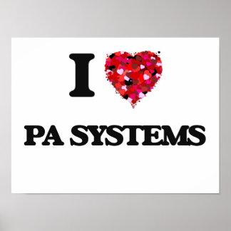 Amo los sistemas PA Póster