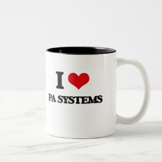 Amo los sistemas PA Taza Dos Tonos