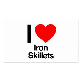 amo los skillets del hierro plantillas de tarjetas de visita