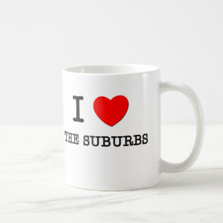 Amo los suburbios taza de café