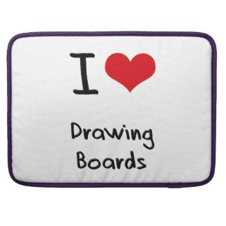 Amo los tableros de dibujo fundas para macbook pro
