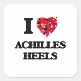 Amo los talones de Aquiles Pegatina Cuadrada