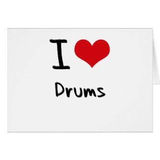Amo los tambores tarjeta