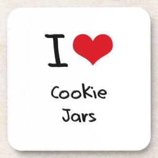 Amo los tarros de galletas posavasos de bebidas