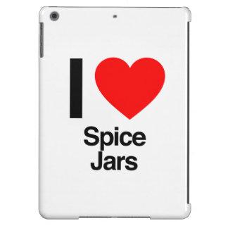 amo los tarros de la especia funda para iPad air