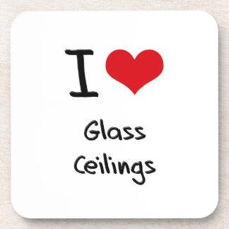 Amo los techos de cristal posavasos de bebida