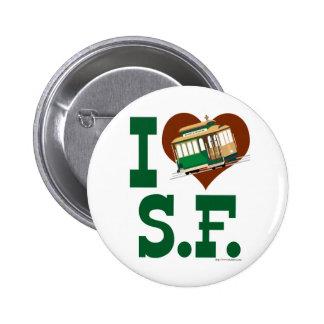 Amo los teleféricos de San Francisco Pin