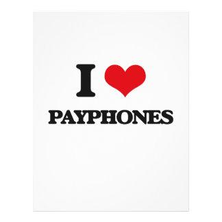 Amo los teléfonos públicos folleto 21,6 x 28 cm