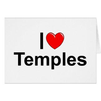 Amo los templos (del corazón) tarjeta de felicitación