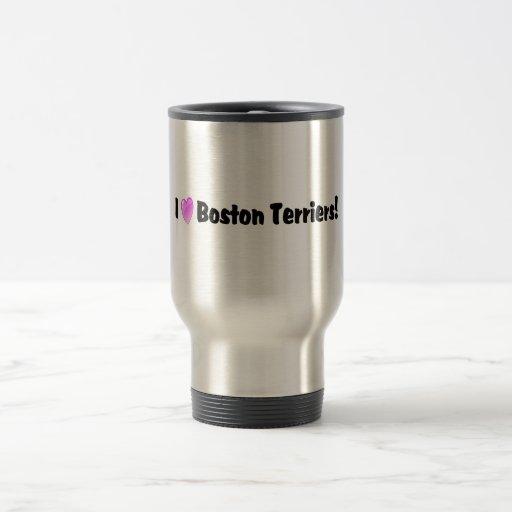 Amo los terrieres de Boston Tazas De Café