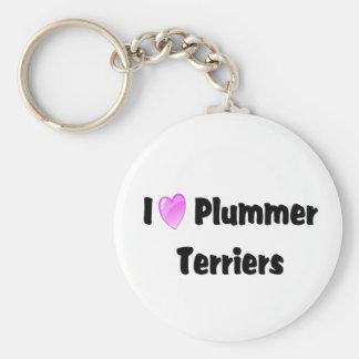 Amo los terrieres de Plummer Llaveros Personalizados