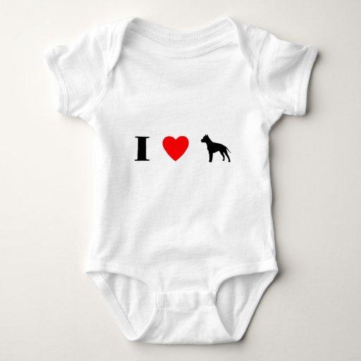 Amo los terrieres de Staffordshire americano T Shirts