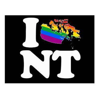 AMO LOS TERRITORIOS DEL NOROESTE GAY - BLANCO - .P TARJETAS POSTALES