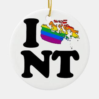 AMO LOS TERRITORIOS DEL NOROESTE GAY - .PNG ADORNO NAVIDEÑO REDONDO DE CERÁMICA