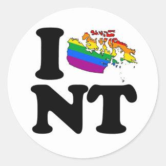 AMO LOS TERRITORIOS DEL NOROESTE GAY - .PNG PEGATINA REDONDA
