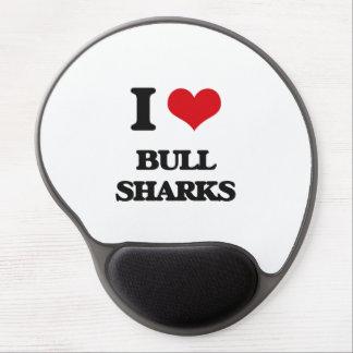 Amo los tiburones de Bull Alfombrilla Gel