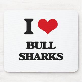 Amo los tiburones de Bull Alfombrilla De Ratón