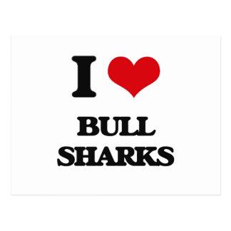 Amo los tiburones de Bull Postal