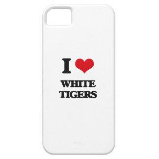 Amo los tigres blancos iPhone 5 cárcasa