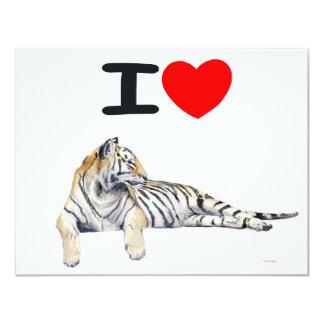 """Amo los tigres para la luz invitación 4.25"""" x 5.5"""""""