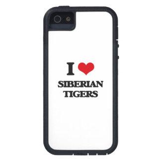 Amo los tigres siberianos iPhone 5 carcasas