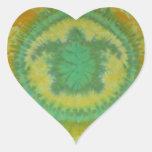 Amo los tintes fantásticos del teñido anudado de l calcomania de corazon personalizadas