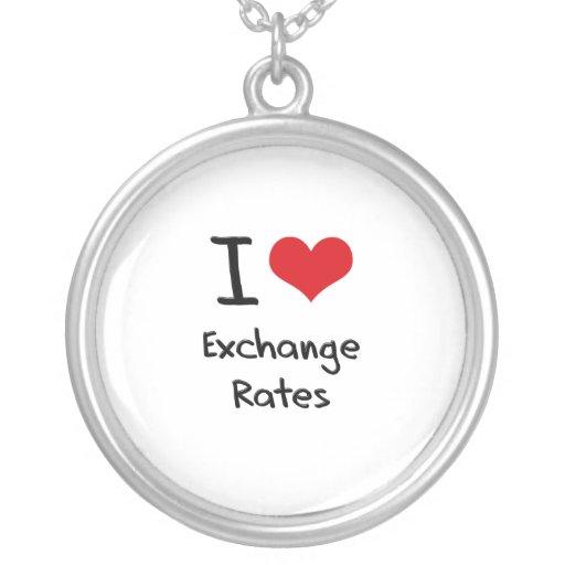 Amo los tipos de cambio collar personalizado