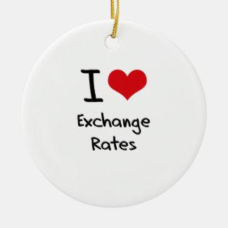 Amo los tipos de cambio adorno